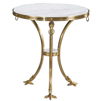 French Empire pedestal / side table