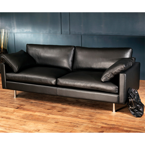 Danish contemporary leather sofa now available in Cambodia