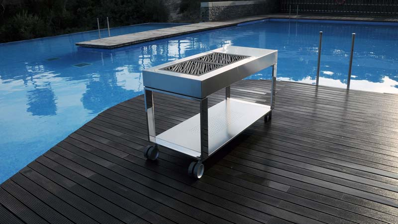 Tacora Luxury Stainless Steel Mobile Barbecue And Grill