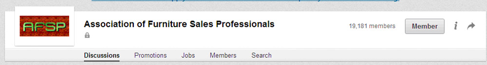 Association of Furniture Sales Professionals on Linkedin