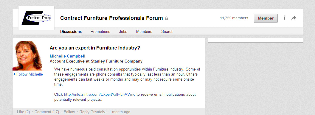 Scams targeting furniture industry professionals 6 Michelle Campbell