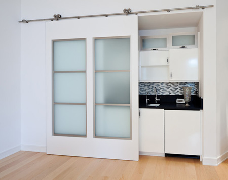 Sliding door save space in your apartment 6