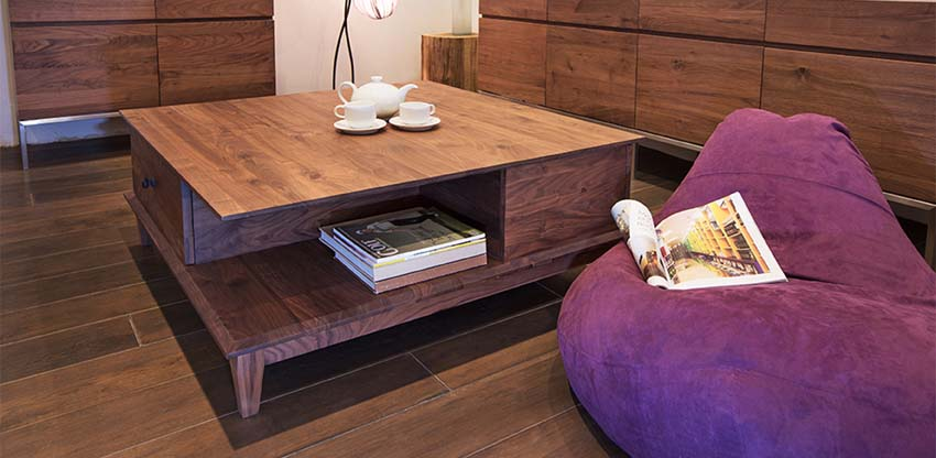 interior decorating make small apartment look bigger - storage coffee table