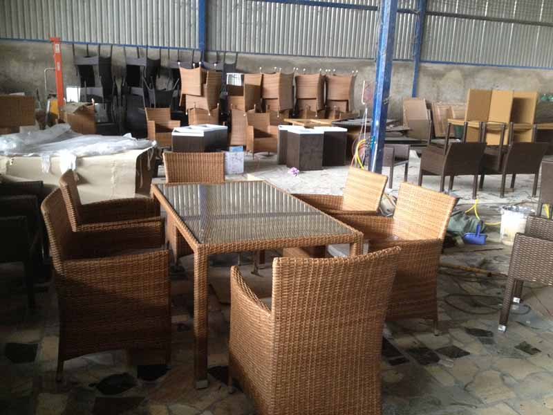 Furniture Quality Control in Vietnam - Lack of flat space in factory