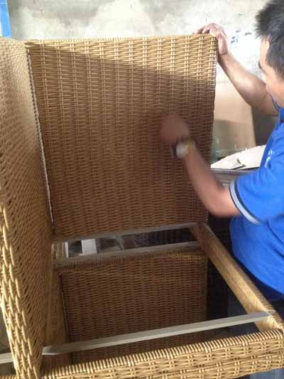 Furniture Quality Control in Vietnam Weaving mistake