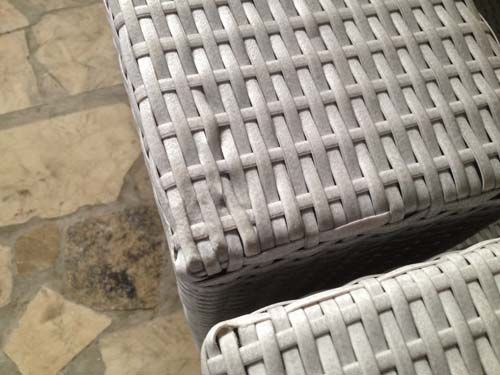 Furniture Quality Control in Vietnam - Wicker melted due to excess heat