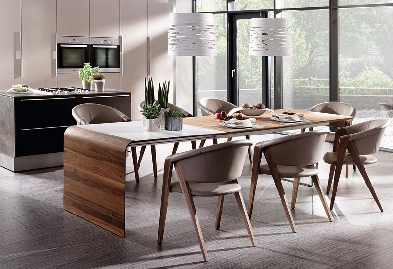 Designer Table With Gl Wall